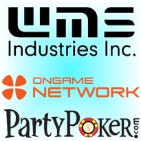 WMS online subsidiary; Ongame adds casino; no more PartyPoker high-stakes