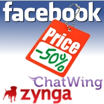 Facebook shares hit 50% of IPO price; Zynga Poker adds Chatwing widget