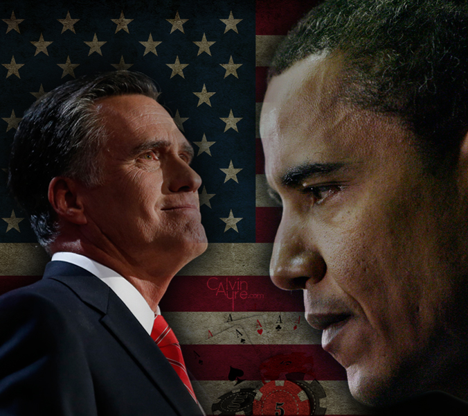 Mitt Romney and Barack Obama the US presidentialbles