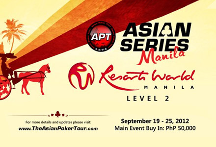 Asian Poker Tour returns to the Philippines for APT Asian Series Manila 2012