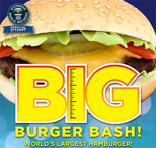 Big Burger Bash, World's Largest Hamburger by Guinness World Record