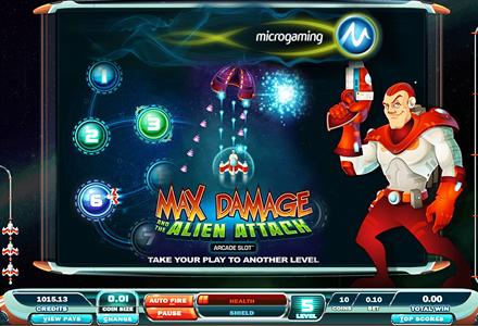 Microgaming Max Damage arcade slot