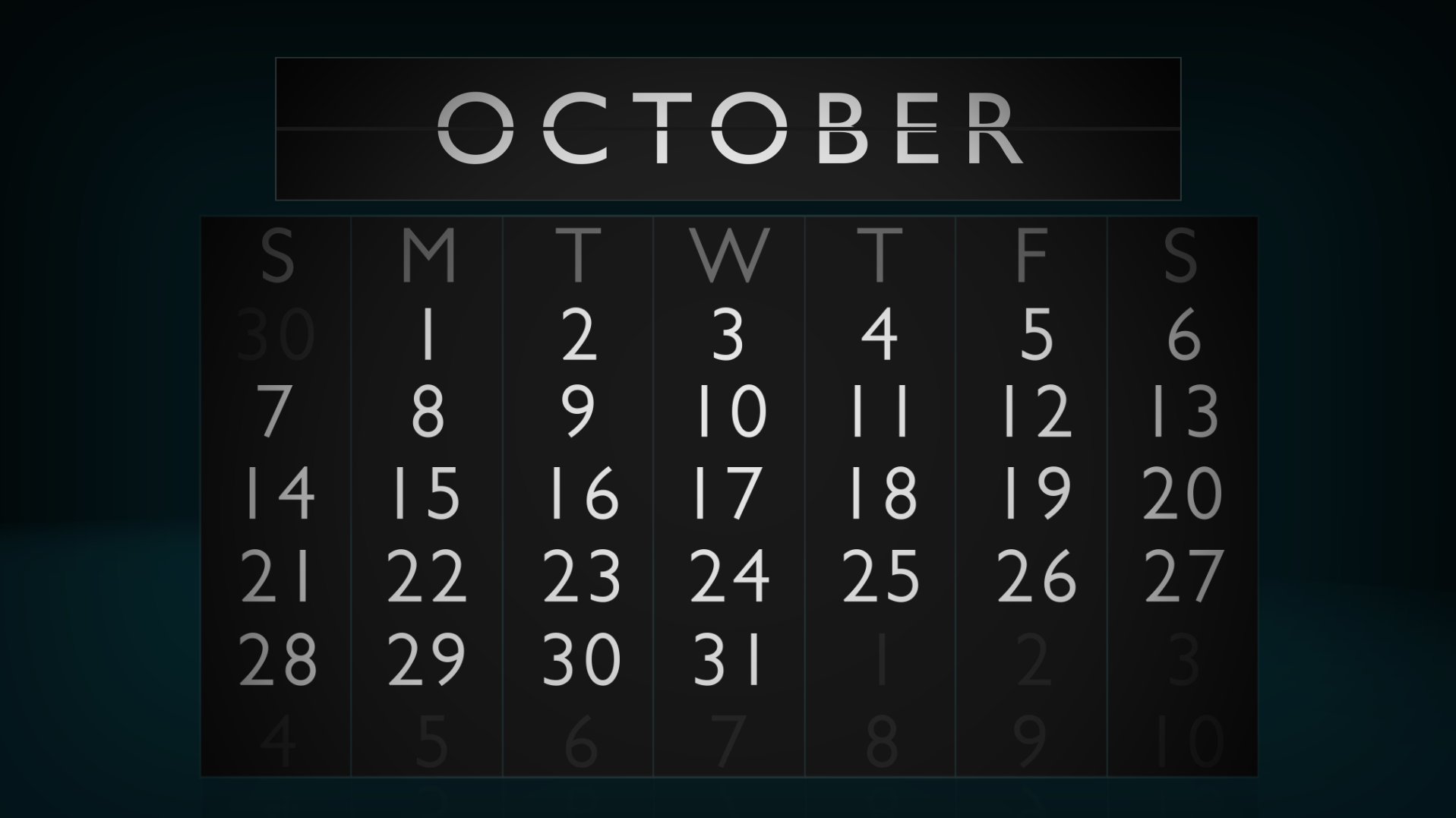 October iGaming Calendar, a summary of online gambling conferences and poker tournaments