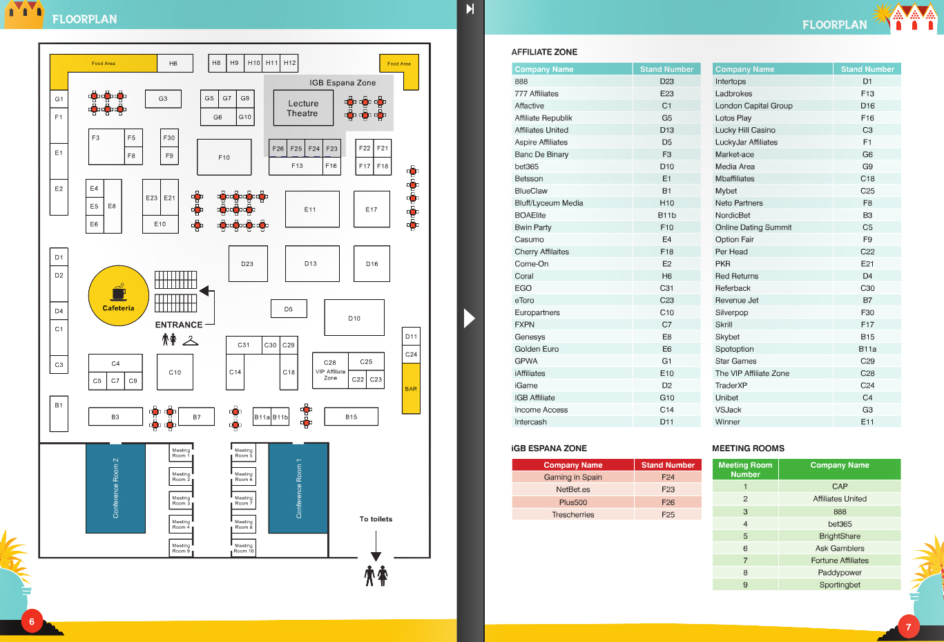 Barcelona Affiliate Conference 2012, iGB Espana Floor Plan