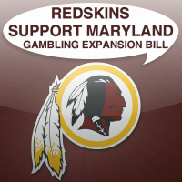 washington redskins support maryland gambling expansion bill