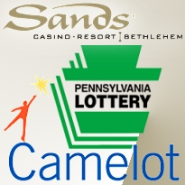 Camelot sole bidder for Pennsylvania Lottery; Sands to eclipse regional rivals