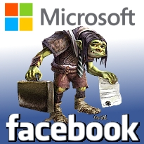 Microsoft attacked by patent troll; Facebook shakedown artist charged with fraud