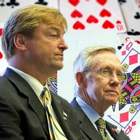 Reid, Heller sing kumbaya; bookies need to react faster; NFL says no bong for you