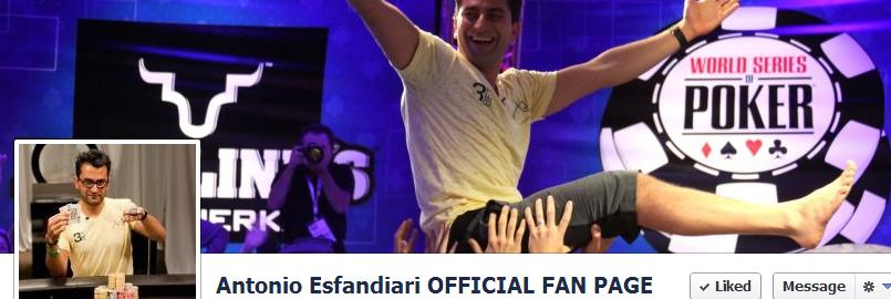 Antonio Esfandiari Facebook Page