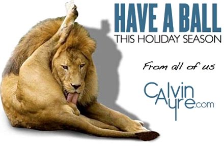 Holiday Thank you from CalvinAyre.com Team