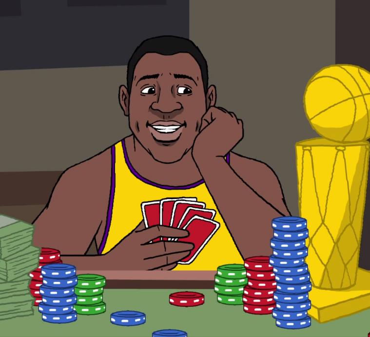 Magic Johnson Winning!