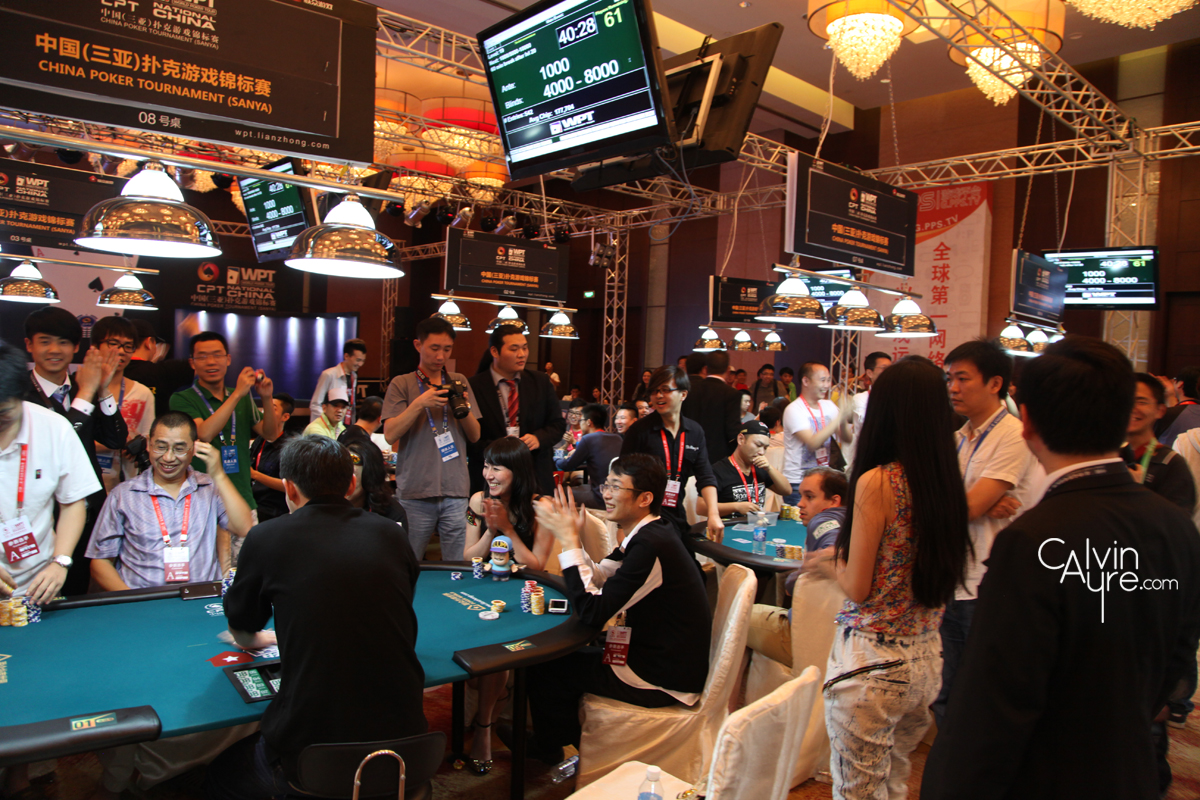 WPT China 2012, Bubble Celebration