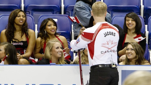 Bodog Girls cheer on Team Canada at World Curling Championships