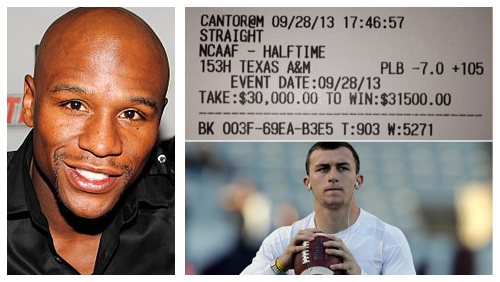 Floyd Mayweather Jr. rides Johnny Football to another winning wager