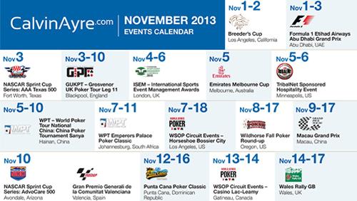 CalvinAyre.com Featured Conferences & Events: November 2013