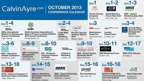 CalvinAyre.com Featured Conferences & Events: October 2013