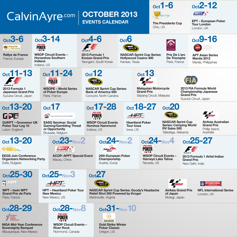 CalvinAyre com featured Gambling Conferences and Events for