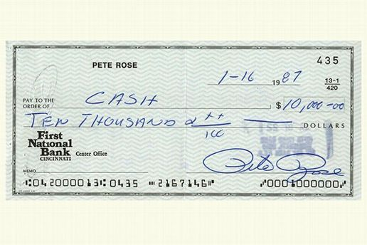 Pete Rose's gambling checks are up for auction