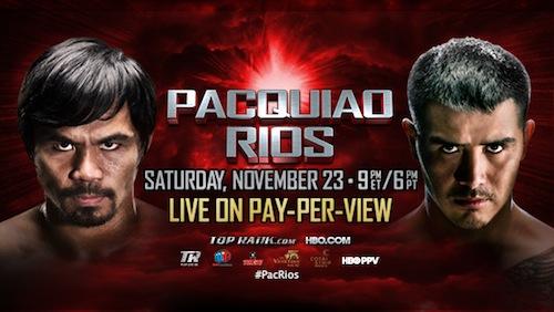 Manny Pacquiao favored over Brandon Rios in Cotai Clash