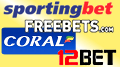 Coral, 12Bet, Sportingbet, Freebets.com busy with sponsorship pen