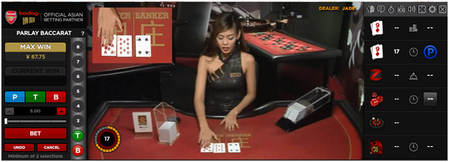 Parlay Baccarat: new & exclusive to Bodog's Live Dealer Casino