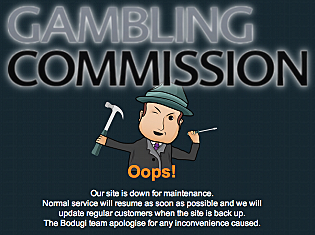 Gambling warning message