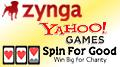 Zynga insist real-money gambling no priority; Spin For Good social slot charity