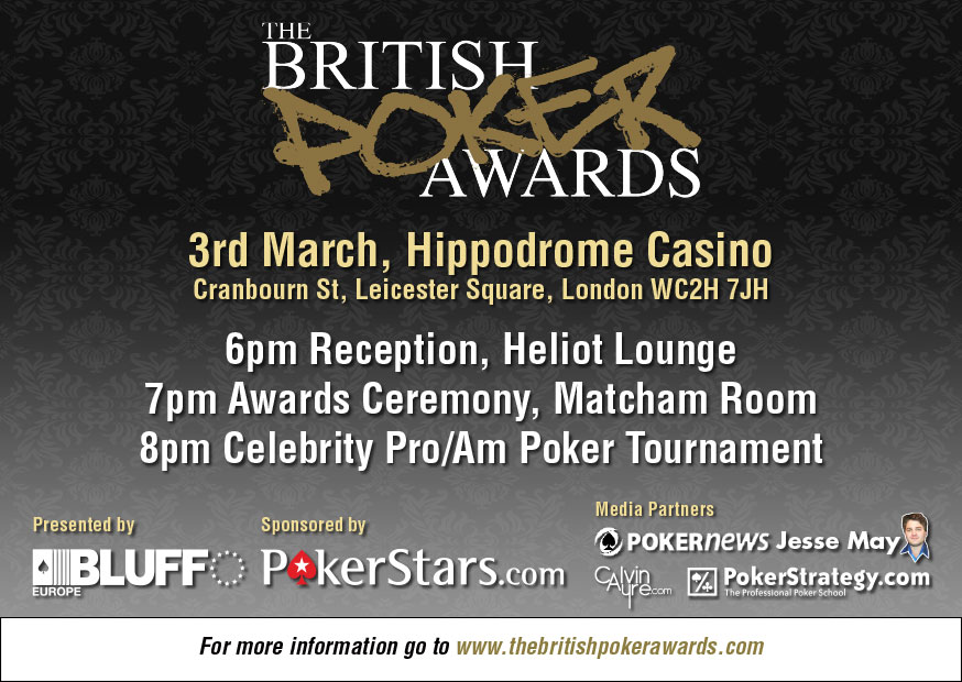 British Poker Awards invite