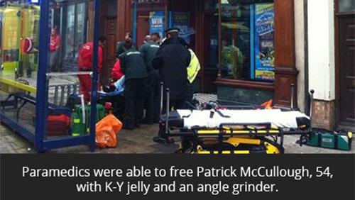 British man gets privates jammed in slot machine