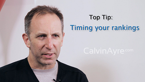 SEO Tip Of the Week : Timing your rankings