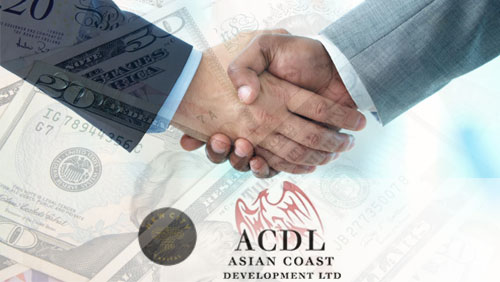 ACDL inks deal with NewCity Capital as investor to the Ho Tram Strip project
