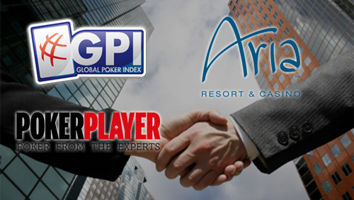 Global Poker Index Partners with the Aria Poker Room and PokerPlayer Magazine