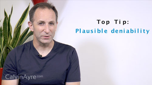 SEO Tip of the Week: Plausible Deniability