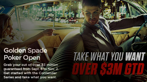 Bodog's Golden Spade Poker Open II: …with over $3,000,000 in prize money