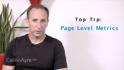 SEO Tip of the Week: Page Level Metrics