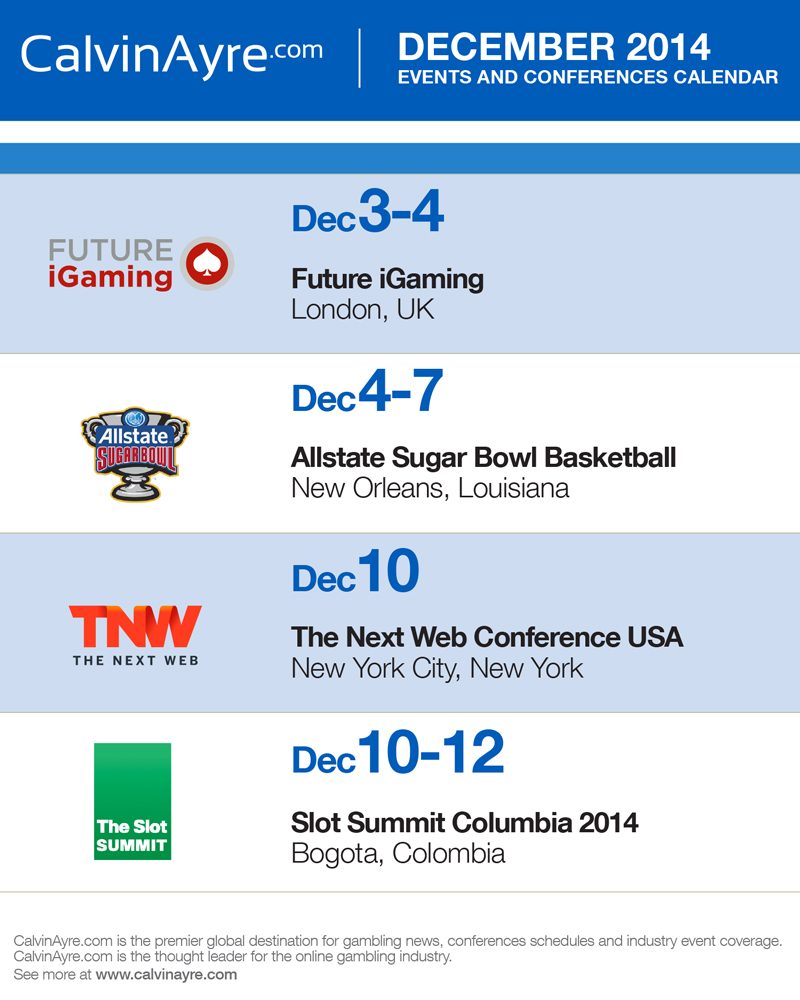 CalvinAyre.com Featured Conferences & Events: December 2014