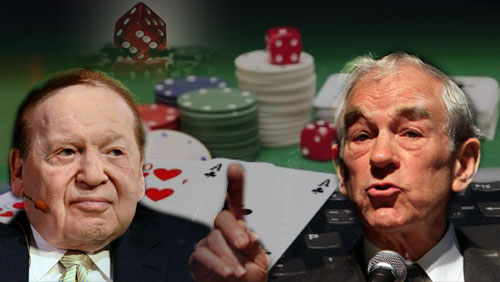 Red Wire: Ron Paul Opposes Sheldon Adelson 's Internet Gambling Ban