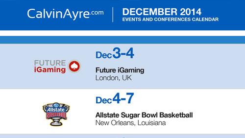 CalvinAyre.com Featured Conferences & Events: December 2014