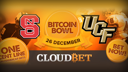 Bitcoin betting site Cloudbet offers special one-cent line for the bitcoin St. Petersburg Bowl