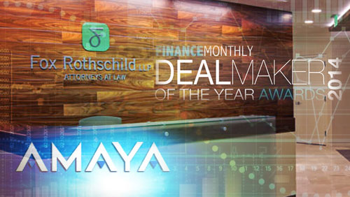 Amaya Gaming's Oldford Group Acquisition Named Deal Maker of the Year