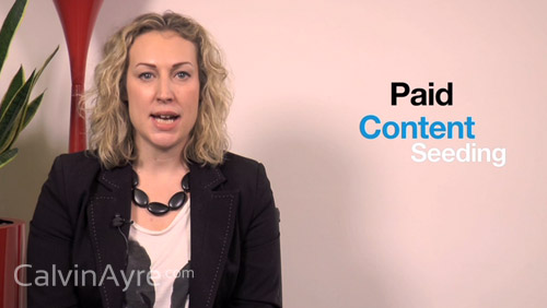 Content Marketing Tip of the Week: Paid Content Seeding