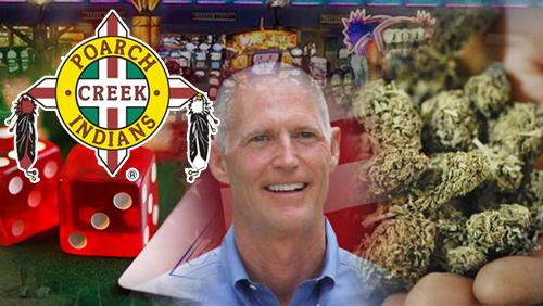 Poarch Creek asks Florida Gov. Scott: Marijuana or Gambling?