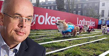 UK bookies Ladbrokes have promoted digital director Jim Mullen (pictured) to the CEO role soon to be vacated by Richard Glynn. - ladbrokes-jim-mullen-corgis