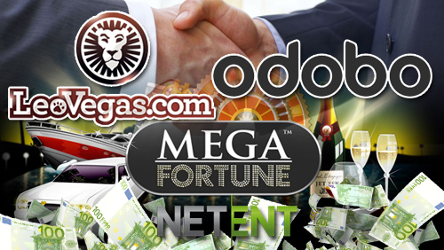 LeoVegas partners with Odobo; NetEnt announces €3.1 million Mega Fortune jackpot