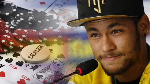 Neymar Preps for City Clash With Poker Game