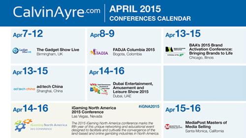 CalvinAyre.com Featured Conferences & Events: April 2015