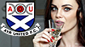 Bodog convinces Playboy model Emma Glover to model new Ayr United purple kit