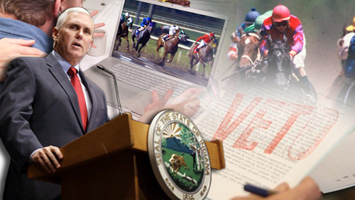 Indiana Governor vetoes bill allowing online horse race wagering