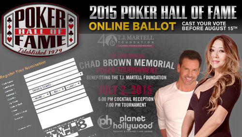 Poker Hall of Fame Nomination Period Opens; Date Cemented For the Chad Brown Memorial Poker Tournament