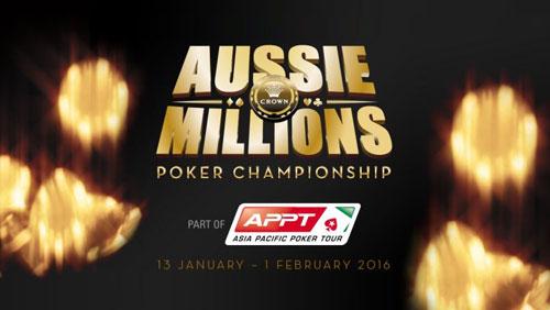2016 Aussie Millions Schedule Released